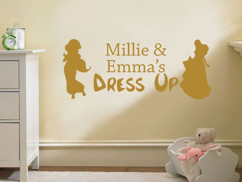 Child s PERSONALISED Dress Up Wall Art Sticker Vinyl Decal Transfer ...